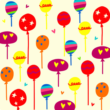 Vector Balloons background Vector