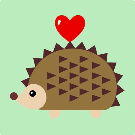 Vector Illustration of hedgehog Vector