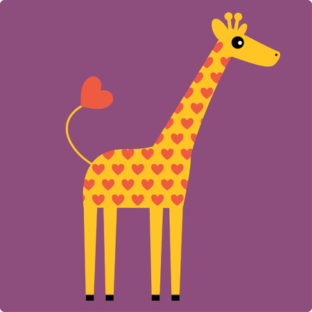 Ilustraciones Vectoriales de jirafa