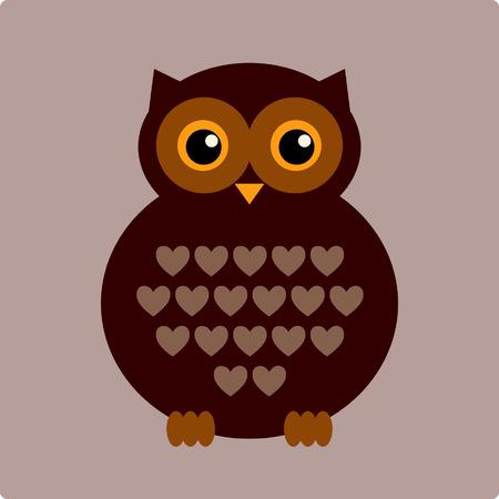 bird of prey: vector owl