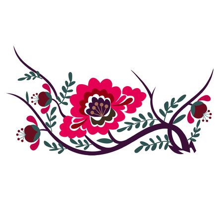 flores chinas: vectores de flores Vectores