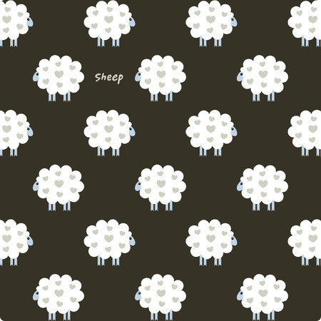 sheep love: Ilustraciones Vectoriales de Ovejas fondo Vectores