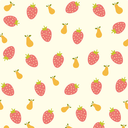 clumsy: Strawberry and pear background