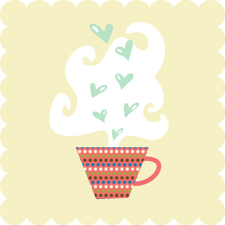 cup of hearts Vector
