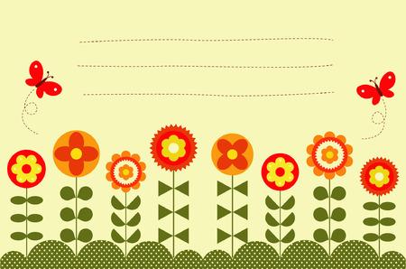 vision nocturna: vectores de flores y mariposas de texto Vectores