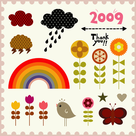vector cute elements Stock Vector - 4343879