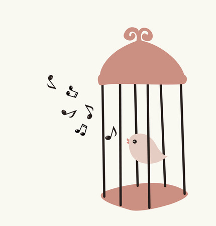 pity: bird in birdcage