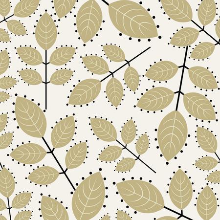 flowery: vector leaf background