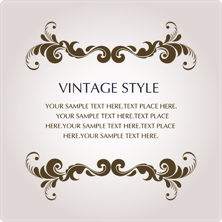 vector banners or headers: vintage style