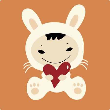 vector baby rabbit Vector