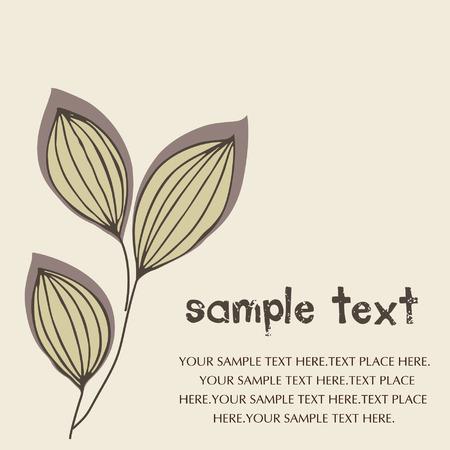 vector leaf background Stock Vector - 4575255