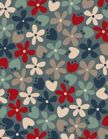 Vector bloem achtergrond Vector Illustratie