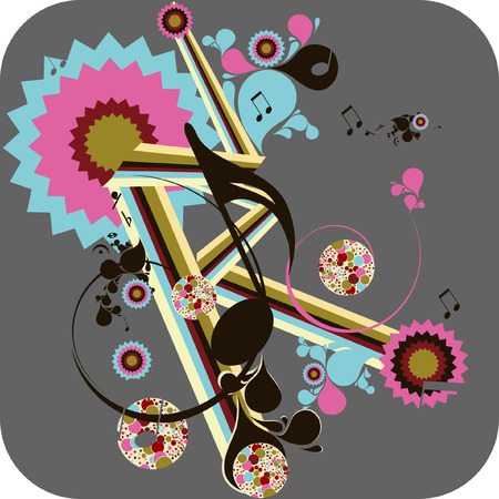 music backgroun Vector