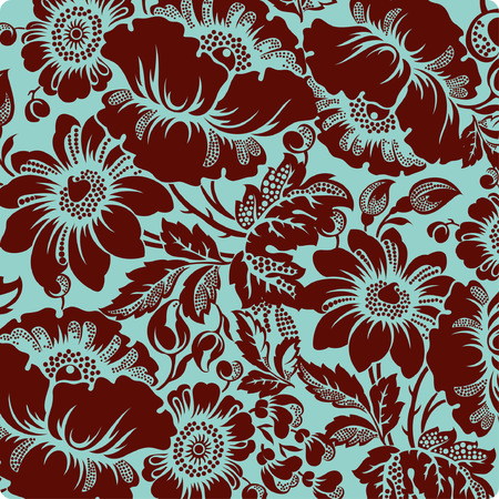 medallion: flower background Illustration
