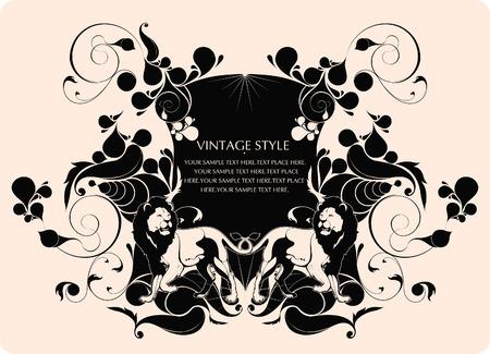 rococo: vintage style background Illustration