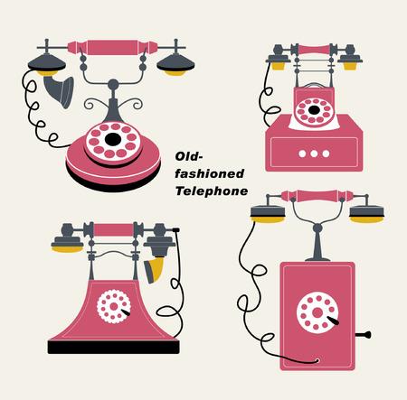 vecteur vieux téléphone fixe Vecteurs