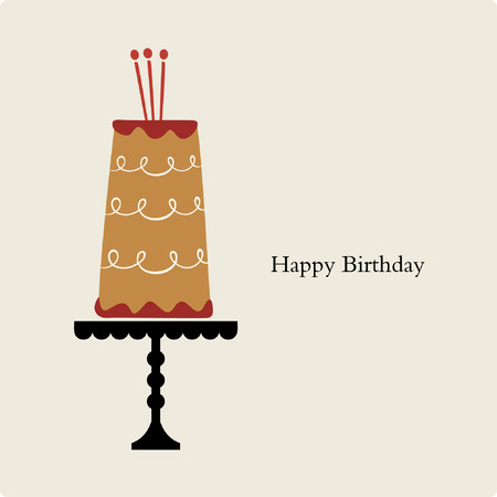 dessert stand: vector birthday card