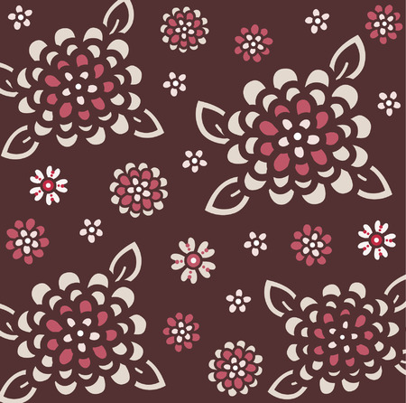 vector flora wallpaper design Stock Vector - 4666164