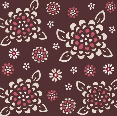 vector flora wallpaper design Stock Vector - 4666164