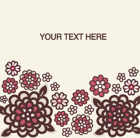 vector flora wallpaper text Stock Vector - 4666166