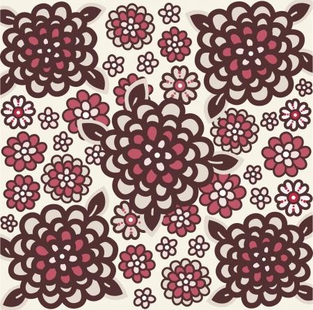 vector flora wallpaper design Stock Vector - 4690921