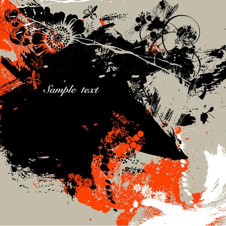Ink splash background Stock Vector - 4705447