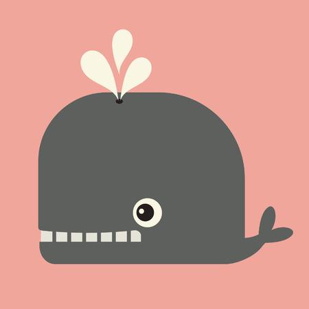 vector cute whale Vector