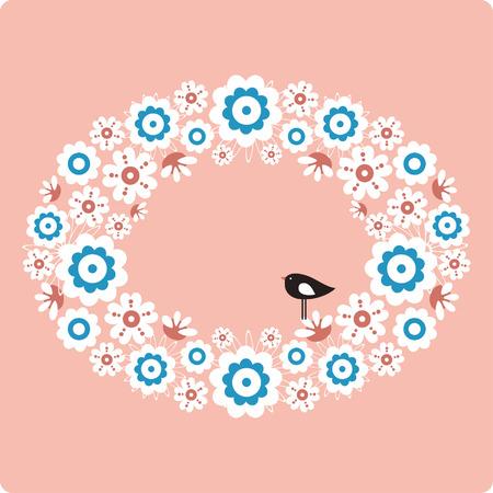 Vector bird and flower Stock Vector - 4741386
