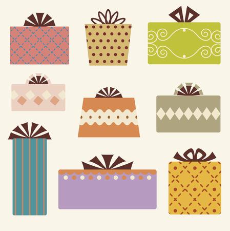 vector gift box set Stock Vector - 4741384