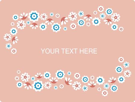vector flower text Stock Vector - 4788010