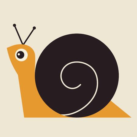 salyangoz: vector snail