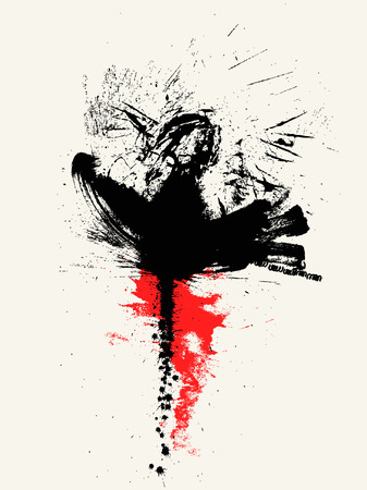 scratchsilhouette:  Splash Illustration