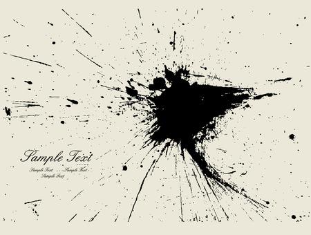 Ink splash backgroun Stock Vector - 4826802