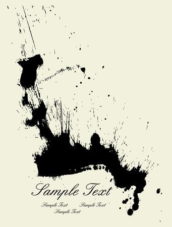ink splash: Ink splash backgroun Illustration