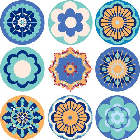 vectors abstract: flor