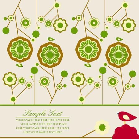 виньетка: цветок Иллюстрация