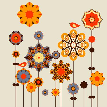 vector borders: flower