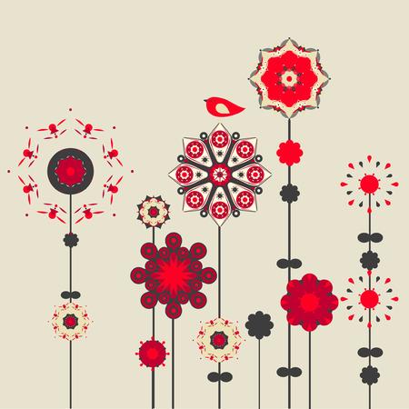 free vintage background: flower