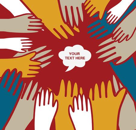 volunteering: hand