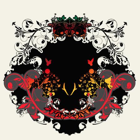 backplane: flower background Illustration