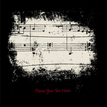 music banner: achtergrond Stock Illustratie