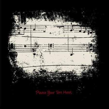 pictogrammes musique: arri�re-plan Illustration