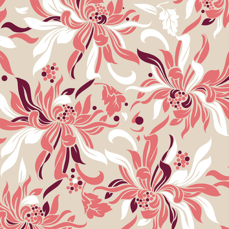 floral vector: flower background Illustration