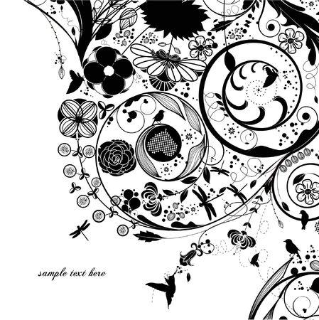 abstract floral background: flower background Illustration