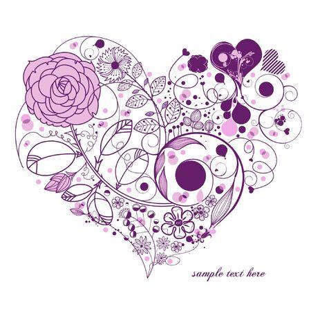 flower clip art: flower background Illustration
