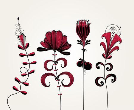 flower background 向量圖像