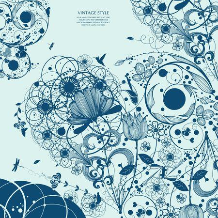 dessin fleur: fleur arri�re-plan Illustration