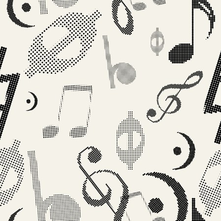 music (Seamless Pattern)  Vector