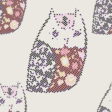 owl(Seamless Pattern) Vector