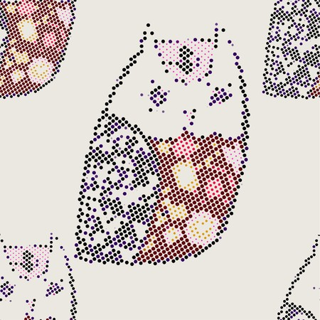 owl(Seamless Pattern) Vector